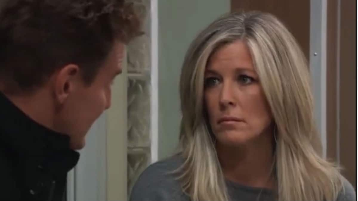 Laura Wright and Ingo Rademacher as Carly and Jax on General Hospital.