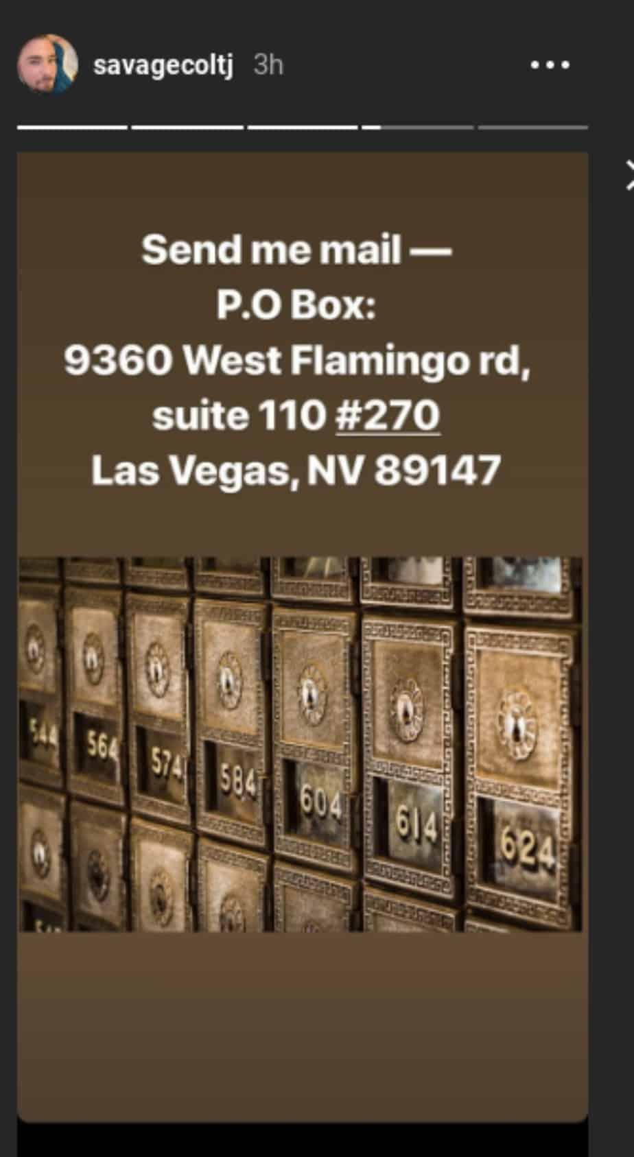 Colt Johnson's address