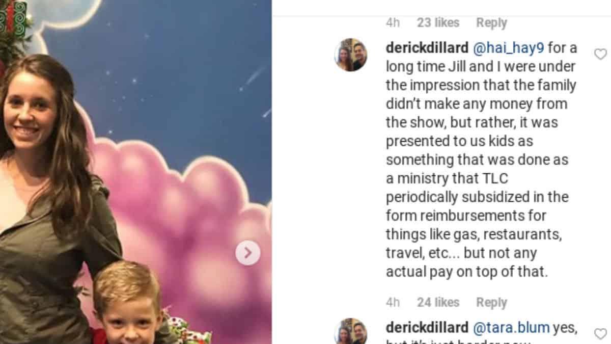 Derick Dillard on Jim Bob IG comments.