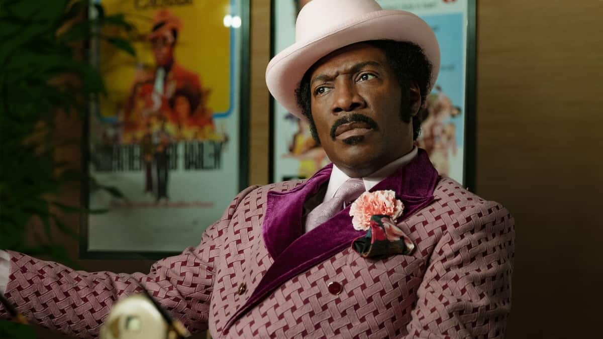 A still of Murphy in character from Dolemite Is My Name from Netflix. Pic credit: Netflix