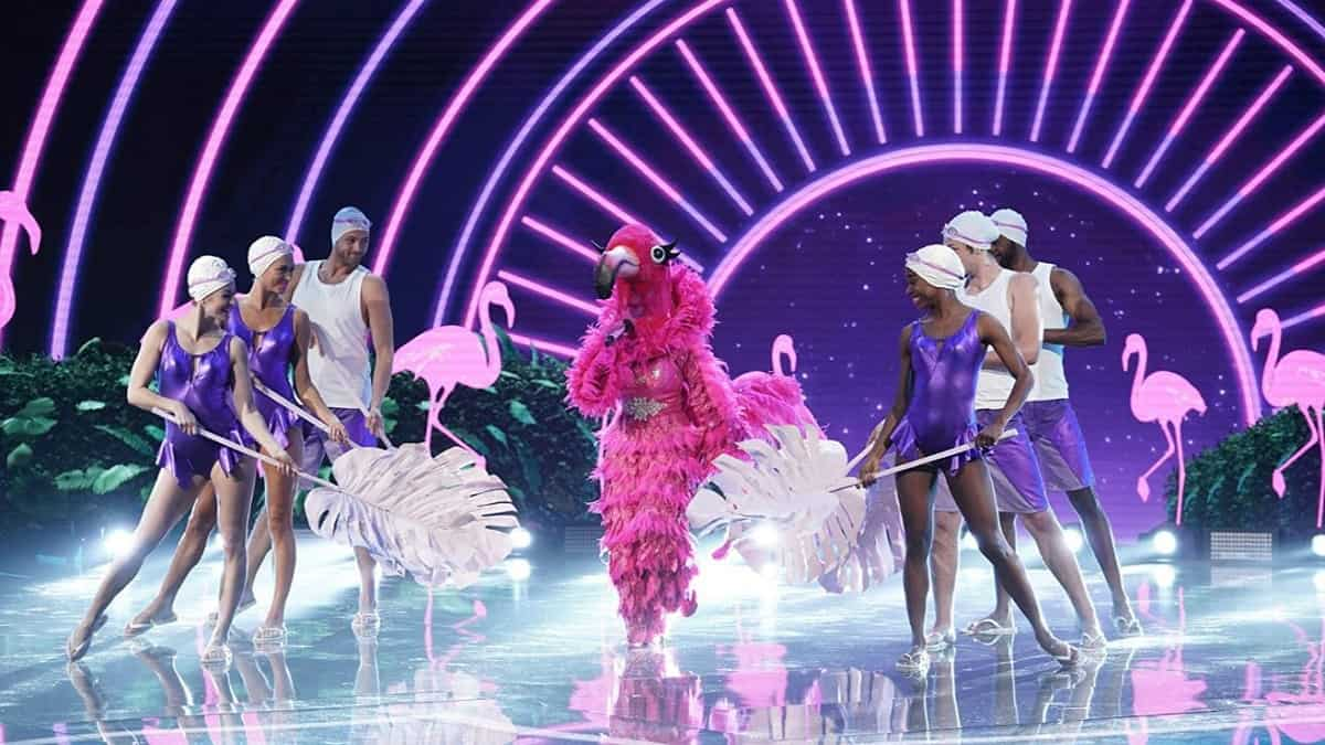 Flamingo performs on The Masked Singer