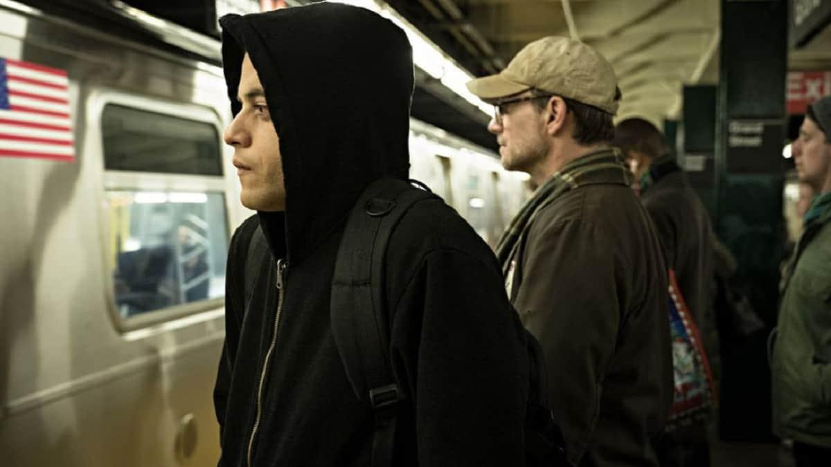 Rami Malek as Elliot on Mr. Robot