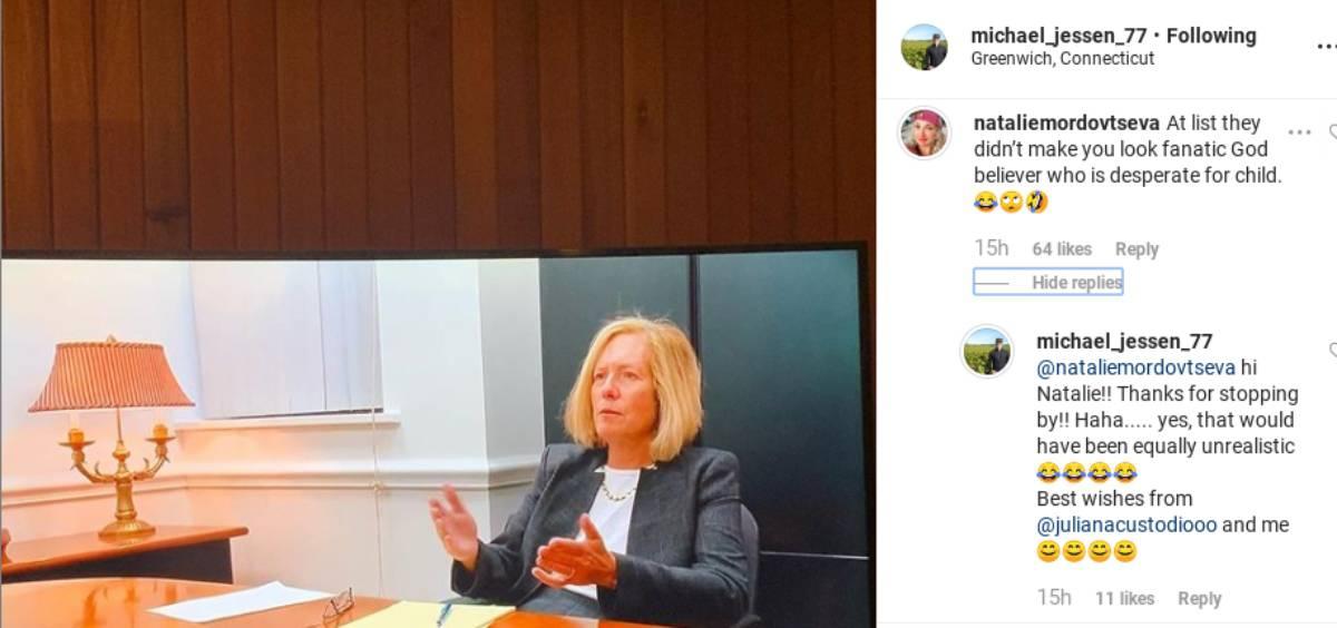 Natalie's comments on Michael Jessen's post
