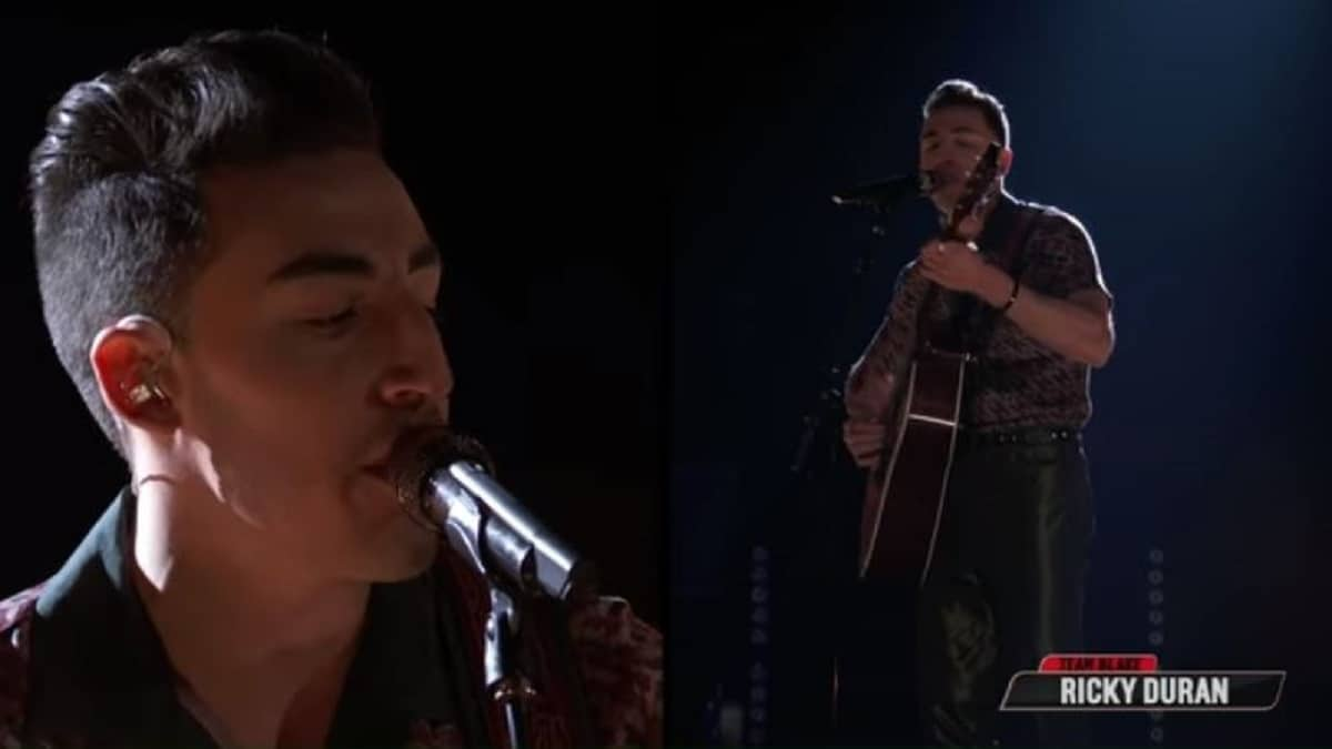 Ricky Duran performs on NBC's The Voice