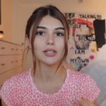 Olivia Jade addressing a camera on YouTube