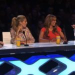 Howard Stern Howie Mandel, Mel B, and Heidi Klum judging on America's Got Talent