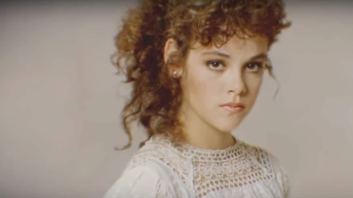 Close up of actress Rebecca Schaeffer