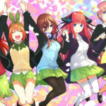 The Quintessential Quintuplets jumping for joy