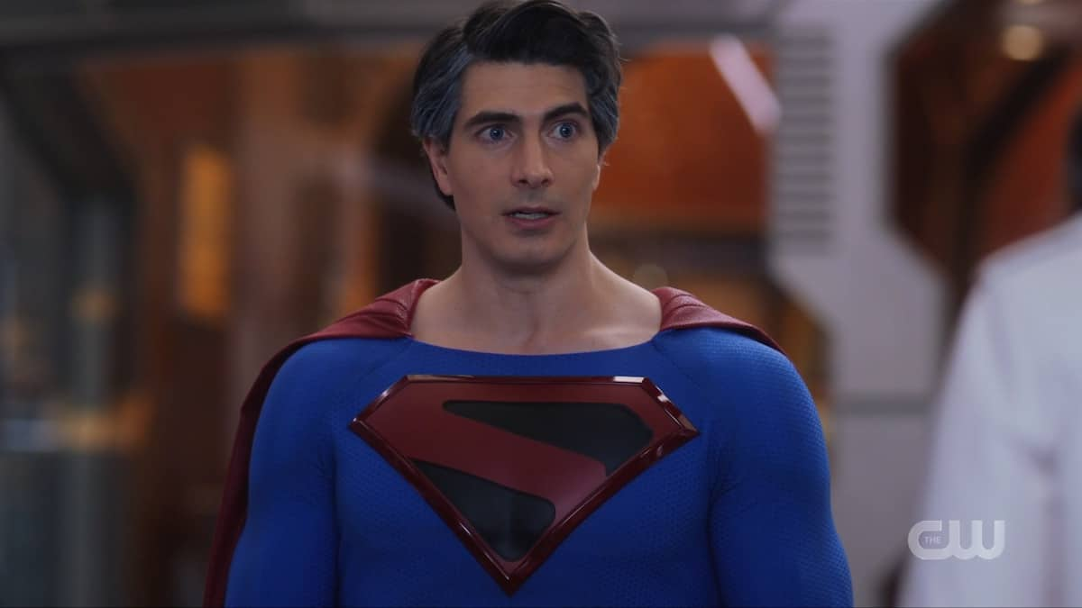 Brandon Routh reprises his role as the Man of Steel in Crisis on Infinite Earths. Pic credit: The CW