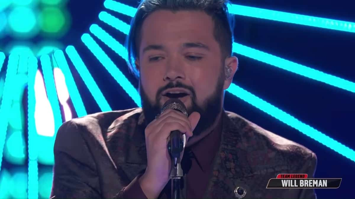 Will Breman performs on The Voice