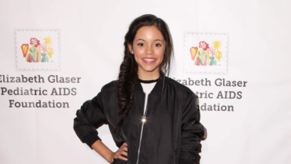 Jenna Ortega posing for photos