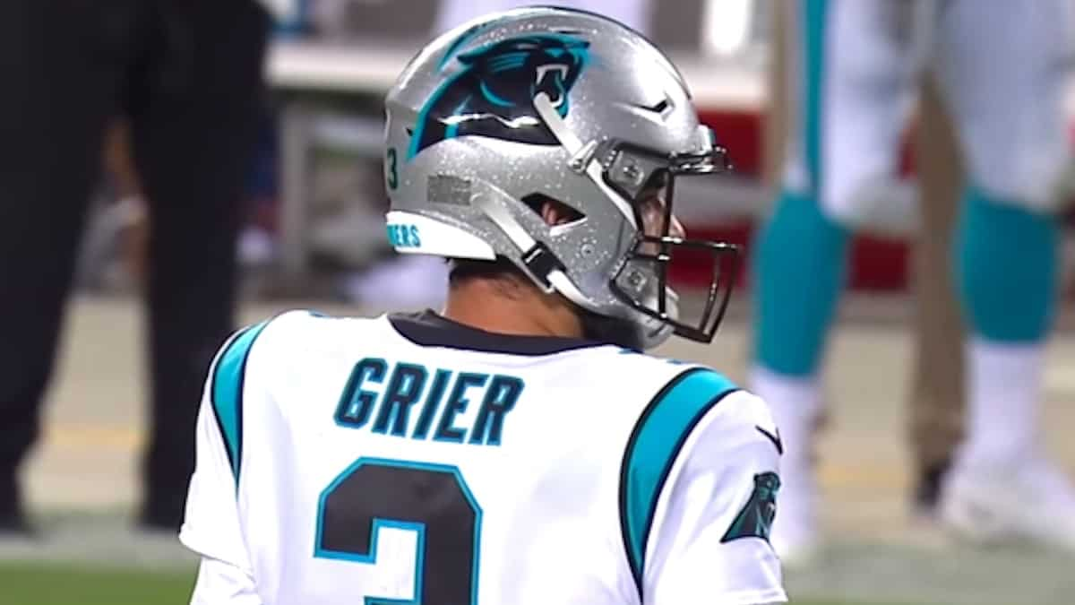 will grier to get start fo the panthers vs colts