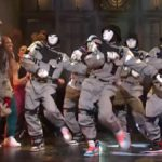 dababy performs bop with jabbawockeez at snl