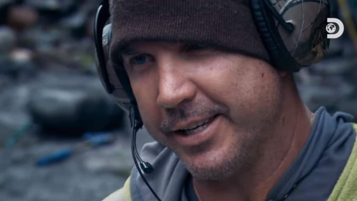 Dustin Hurt of Gold Rush: White Water has hit the jackpot, see it tonight! Pic credit: Discovery.