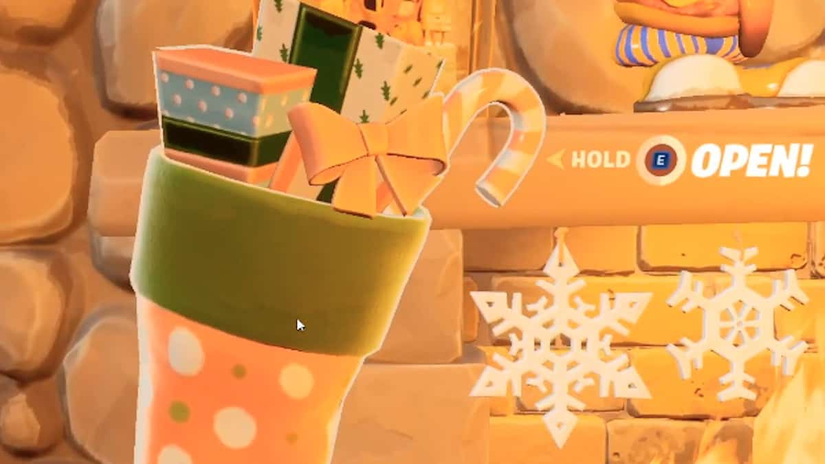 inside the fortnite lodge stocking is a special winterfest challenge