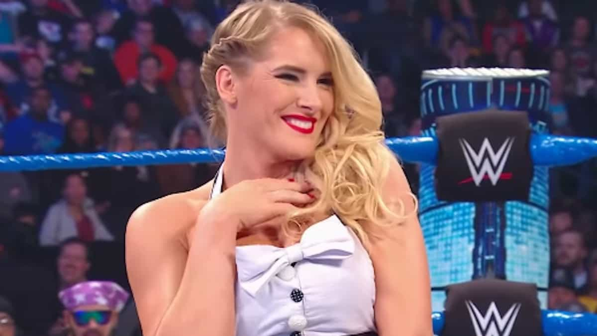 wwe superstar lacey evans after promo in the ring