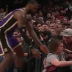 lebron james goes to help up trail blazers waitress during recent nba game