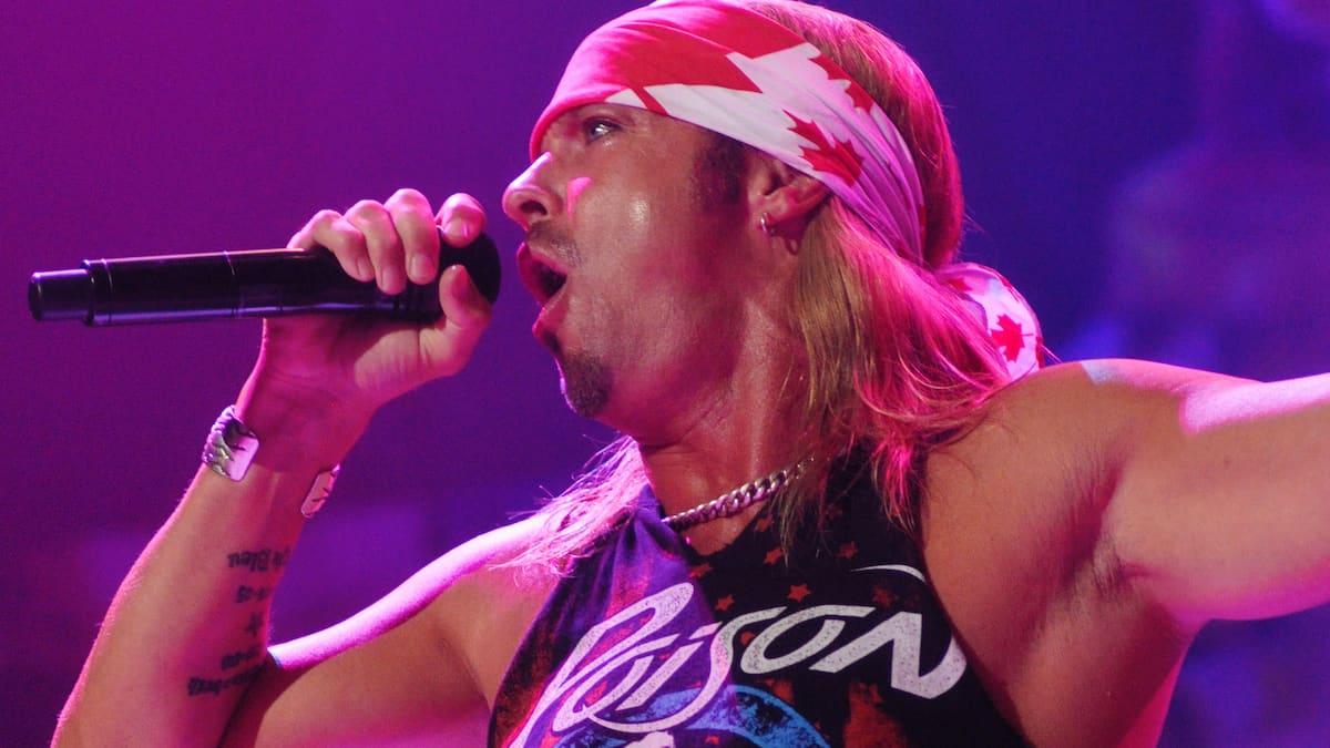poison singer bret michaels at rock of ages tour
