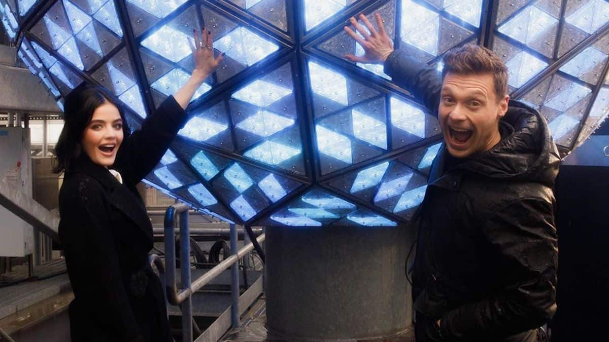lucy hale and ryan seacrest ready for new years eve special