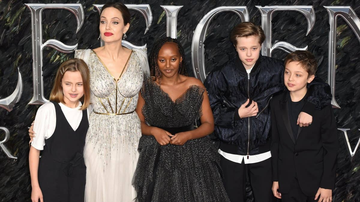 Brad Pitt and Angelina Jolie talk about their six kids.