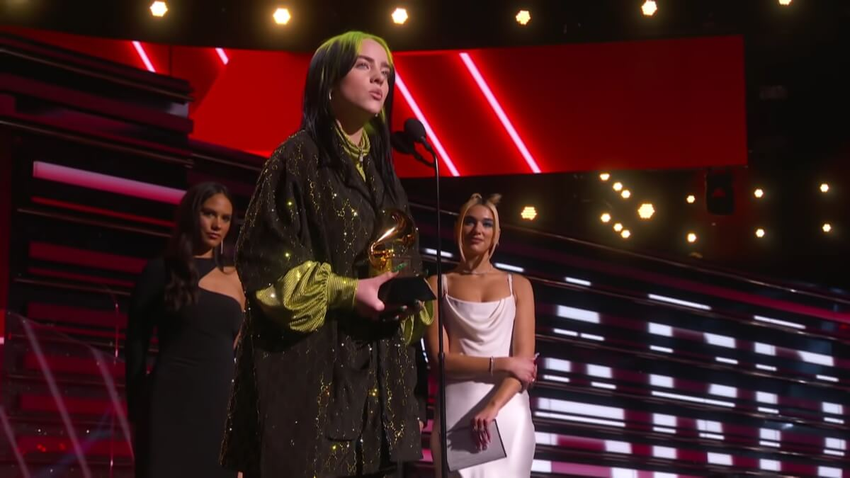 Billie Eilish collects her Grammy for Song of the Year