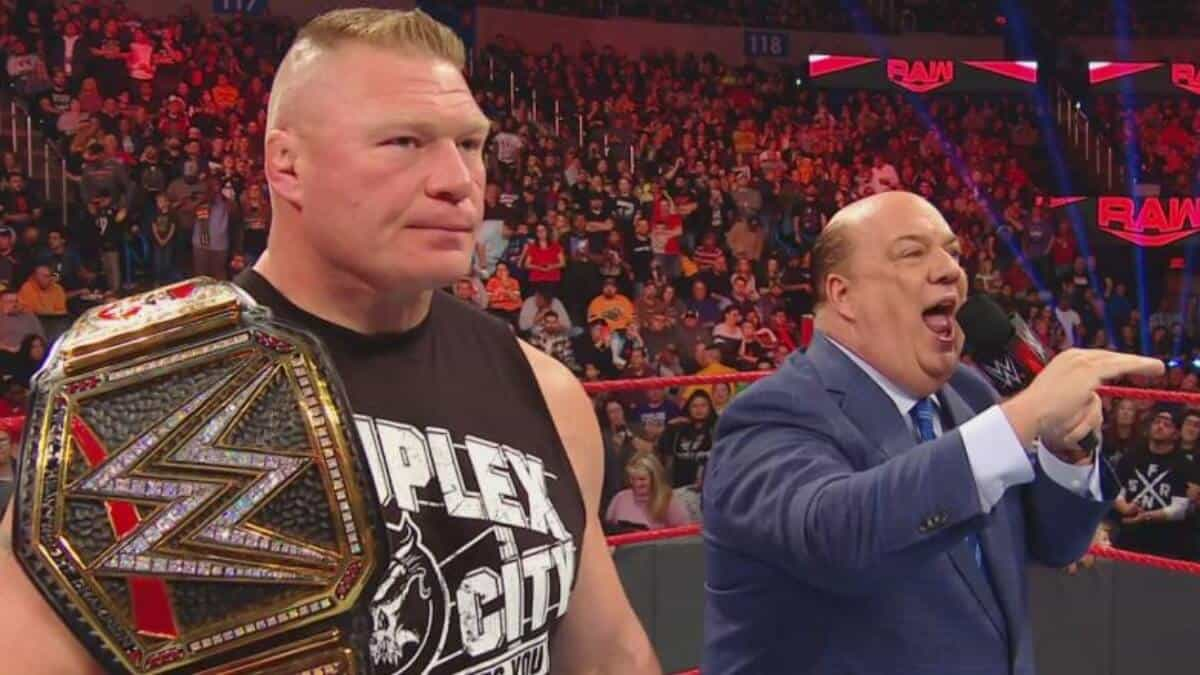 Brock Lesnar enters the Royal Rumble match as the first entrant