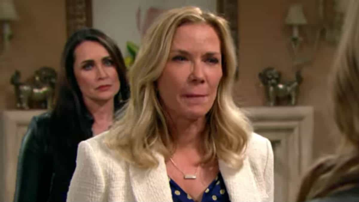 Rena Sofer and Katherine Kelly Lang as Quinn and Brook on The Bold and the Beautiful.