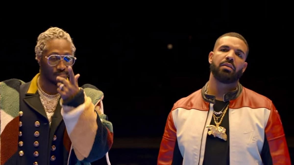 Rappers Drake and Future