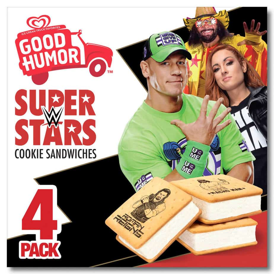 We love the joy and fandom that our tasty WWE treats have inspired over the years! Good Humor is looking forward to sharing more with fans at WWE WrestleMania 36 this April.