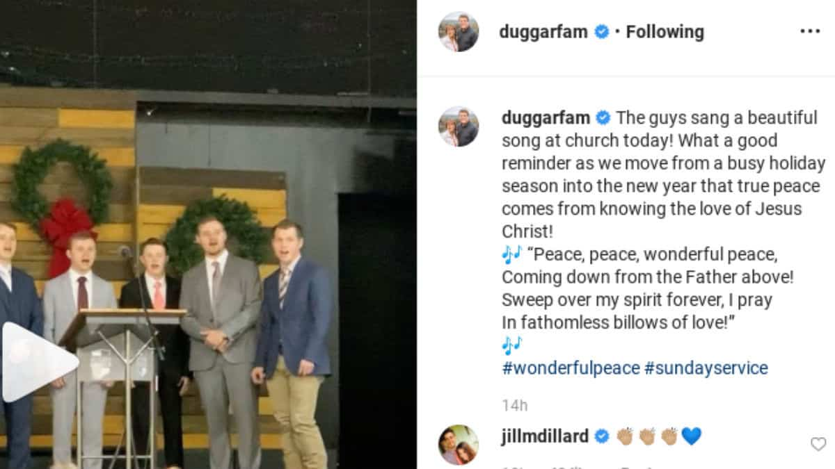 Jill Duggar commented on her family's post.