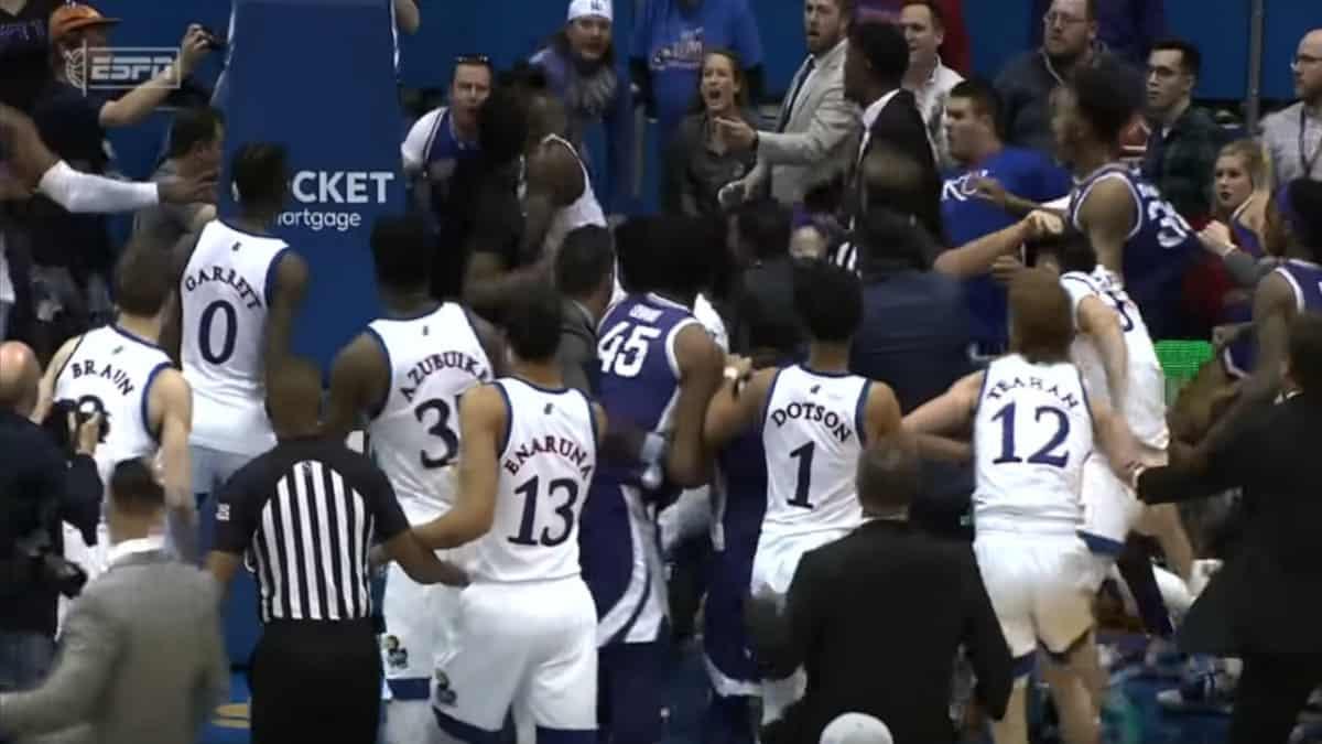 Kansas vs Kansas State fight