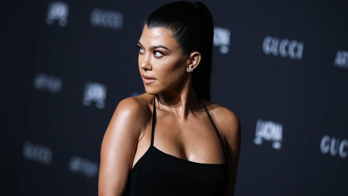 Kourtney Kardashian wears low-cut top on Instagram.