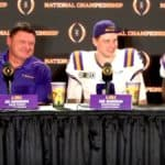 Joe Burrow, Patrick Queen, Ed Orgeron