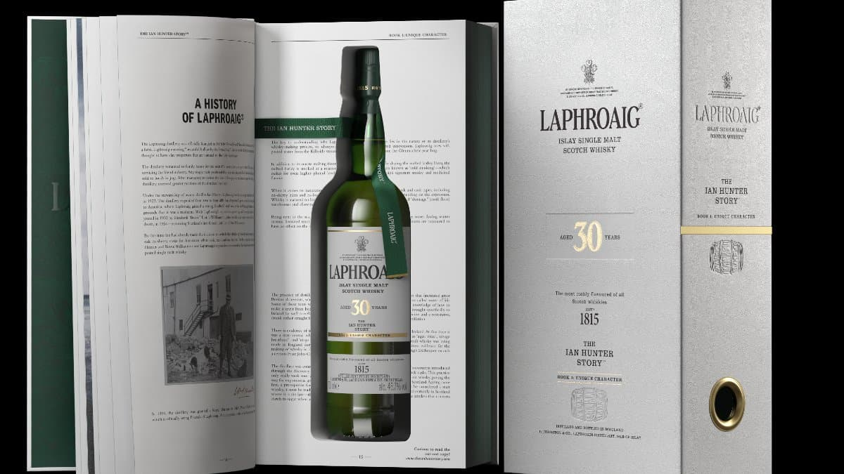 One of the finest single malts you can toast the bard of Scotland with on Rabbie Burns Night, Laphroaig 30 Year Ian Hunter edition. Pic credit: Laphroaig.