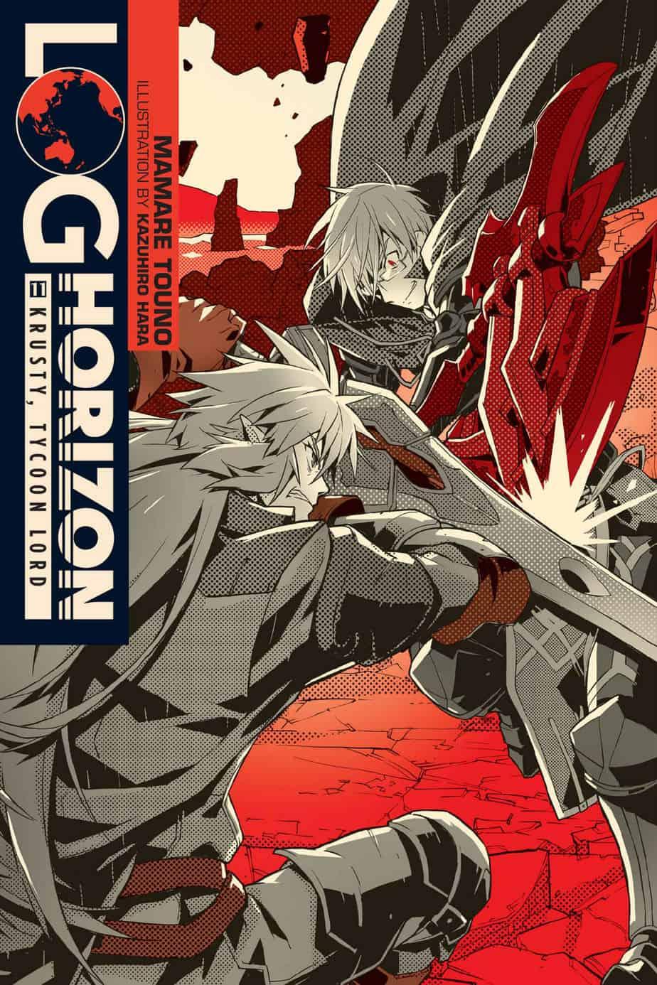Log Horizon Volume 11 Light Novel Cover Art Krusty Tycoon Lord