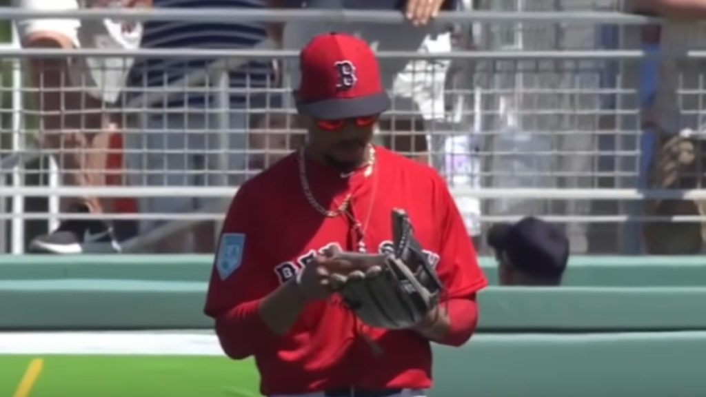 Mookie Betts Playing