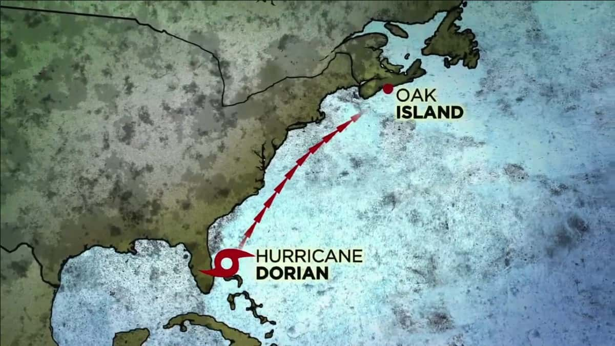 The path of Hurricane Dorian mapped