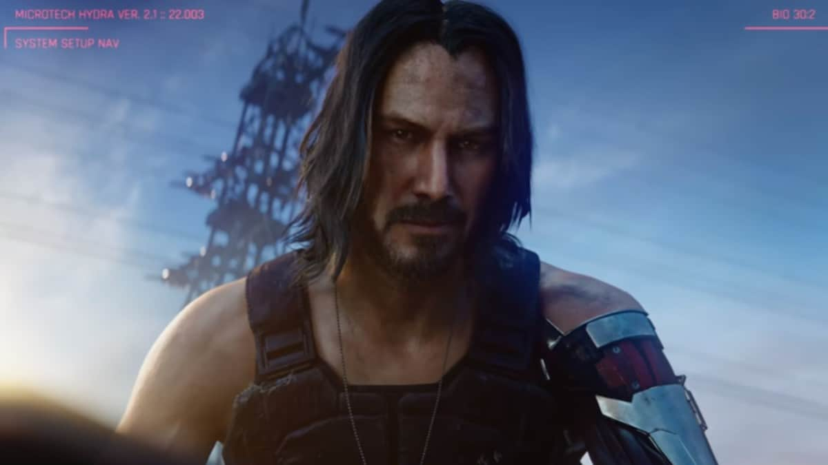 Keanu Reeves in Cyberpunk 2077