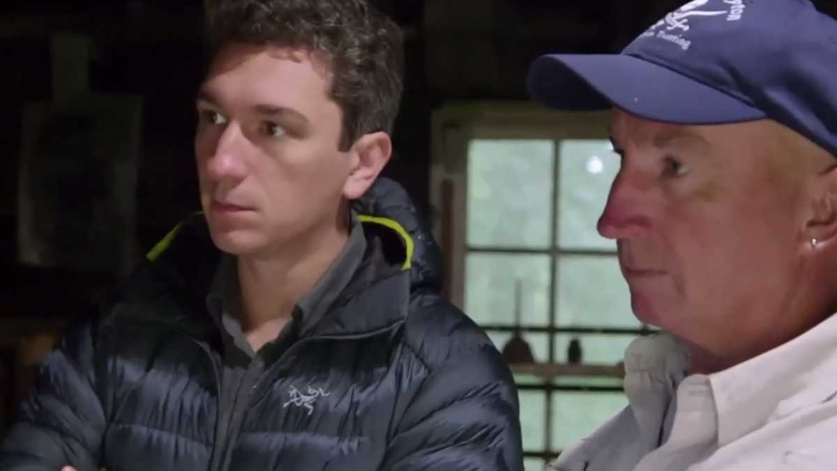 Gary Drayton and Peter Fornetti on Oak Island
