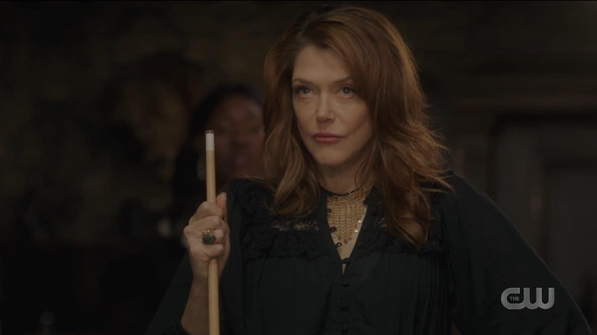 Lynda Boyd guest stars as Fortuna on Supernatural. Pic credit: The CW