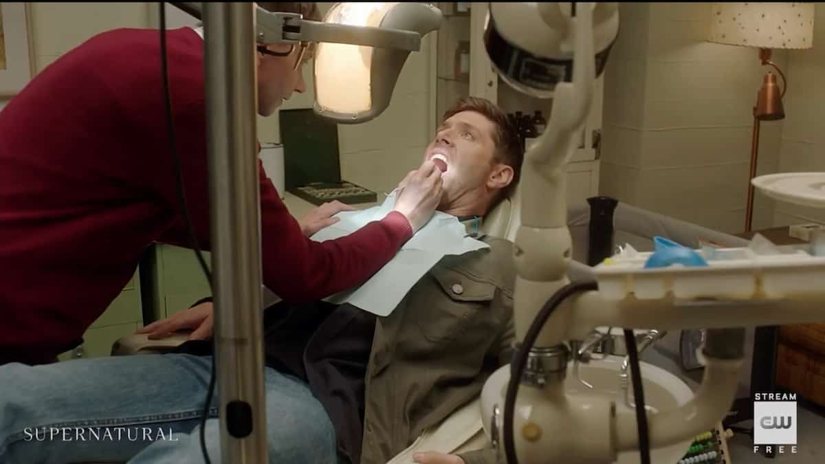 Garth (DJ Qualls) helps Dean (Jensen Ackles) with some dental work. Pic credit: The CW