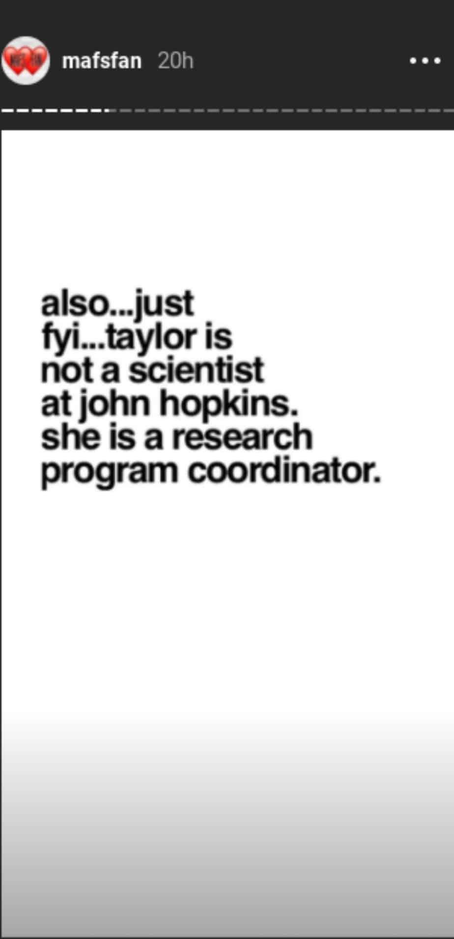 Taylor's Job description