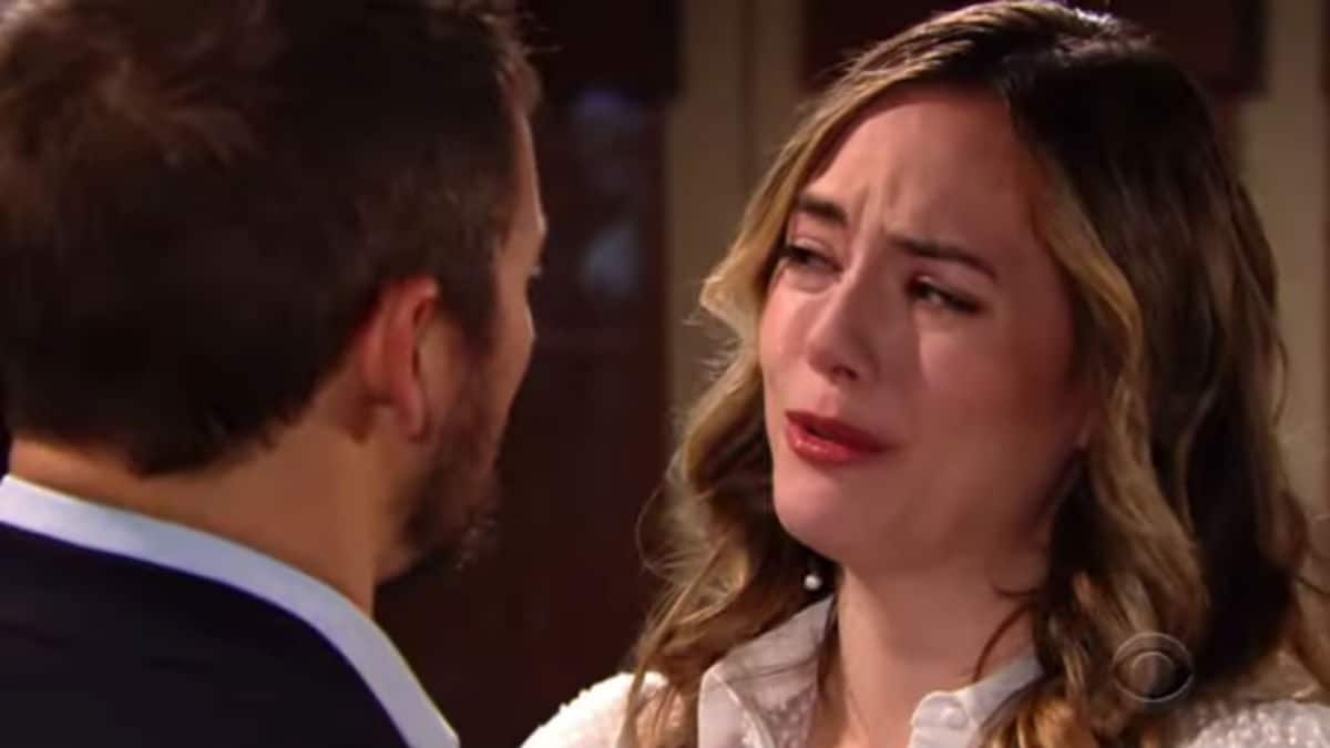 Scott Clifton and Annika Noelle as Liam and Hope on The Bold and the Beautiful.