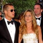 Brad Pitt and Jennifer Aniston on the red carpet