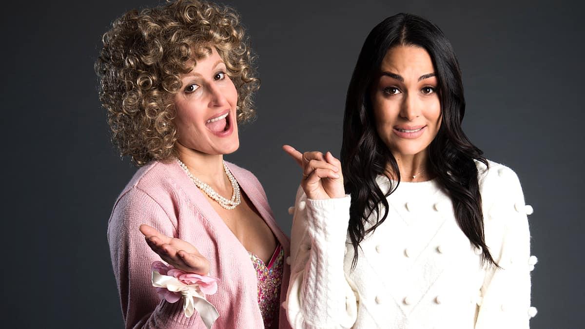 The Bella Twins are up to some tricks for one school on Nickelodeon's The Substitute. Pic credit: Nickelodeon.