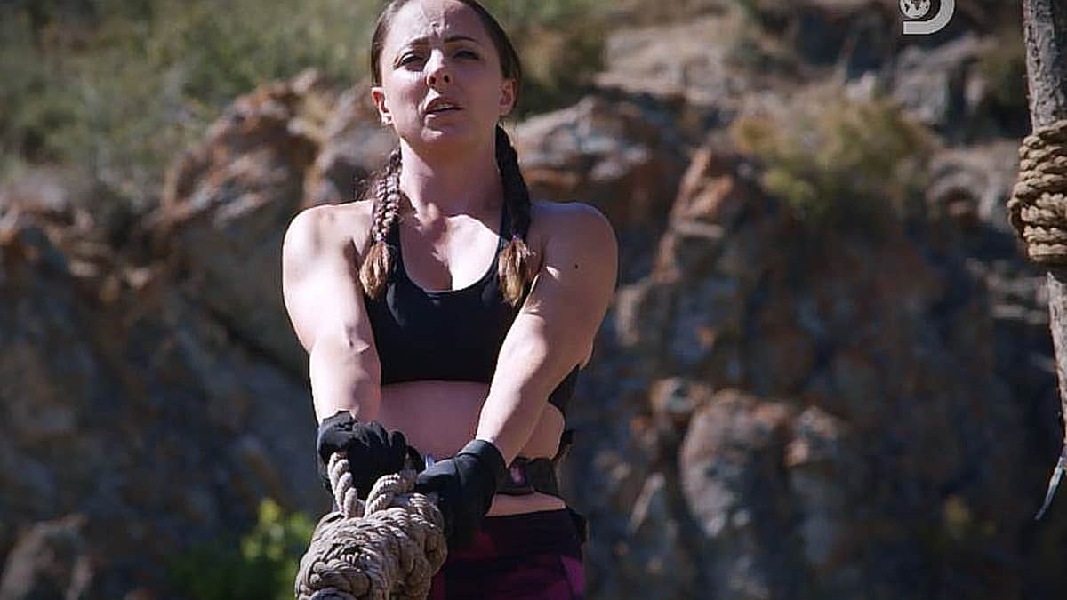 Chrissi has the eye of the tiger but does she have the strength to best Bart? Pic credit: Discovery