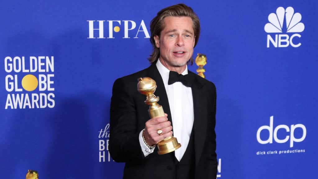 brad pitt at the 77th annual golden globes