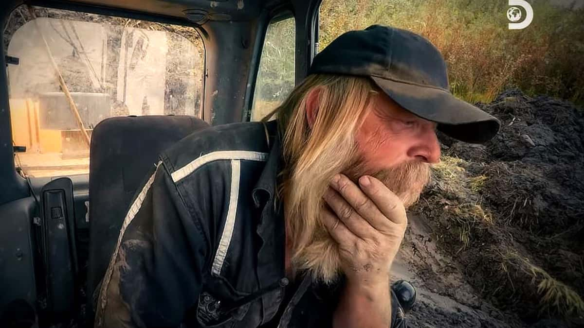 Tony is neck deep in mud and has a big expensive problem this Friday on Gold Rush. Pic credit: Discovery