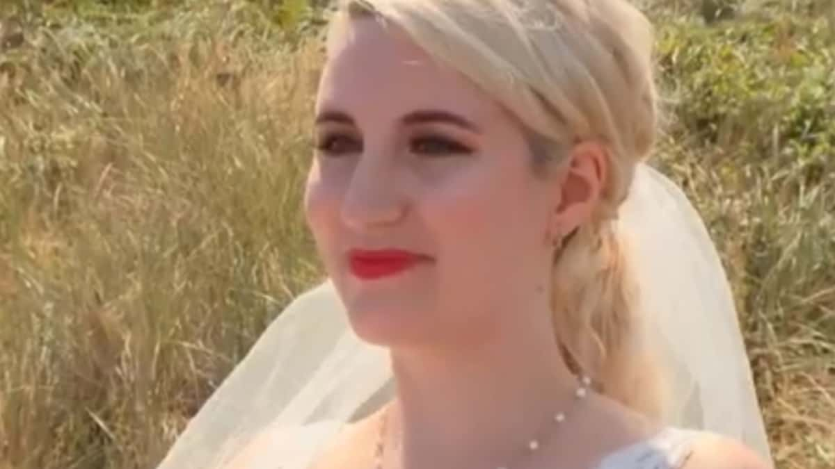 Emily at her wedding