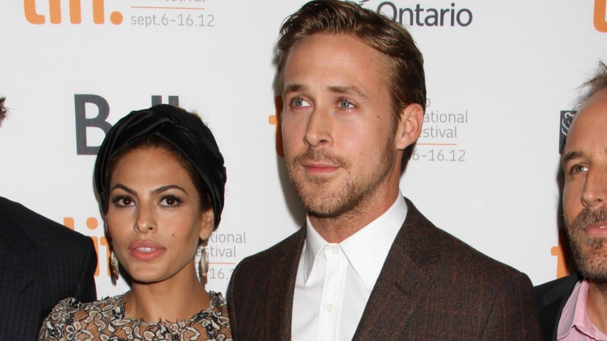 Eva Mendes and Ryan Gosling on the red carpet